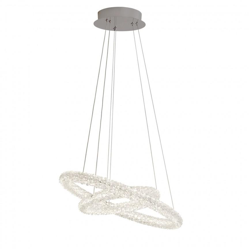 Lustra LED moderna suspendata Circle 45W 31610-2CC SRT, Lustre LED, Pendule LED, Corpuri de iluminat, lustre, aplice, veioze, lampadare, plafoniere. Mobilier si decoratiuni, oglinzi, scaune, fotolii. Oferte speciale iluminat interior si exterior. Livram in toata tara.  a