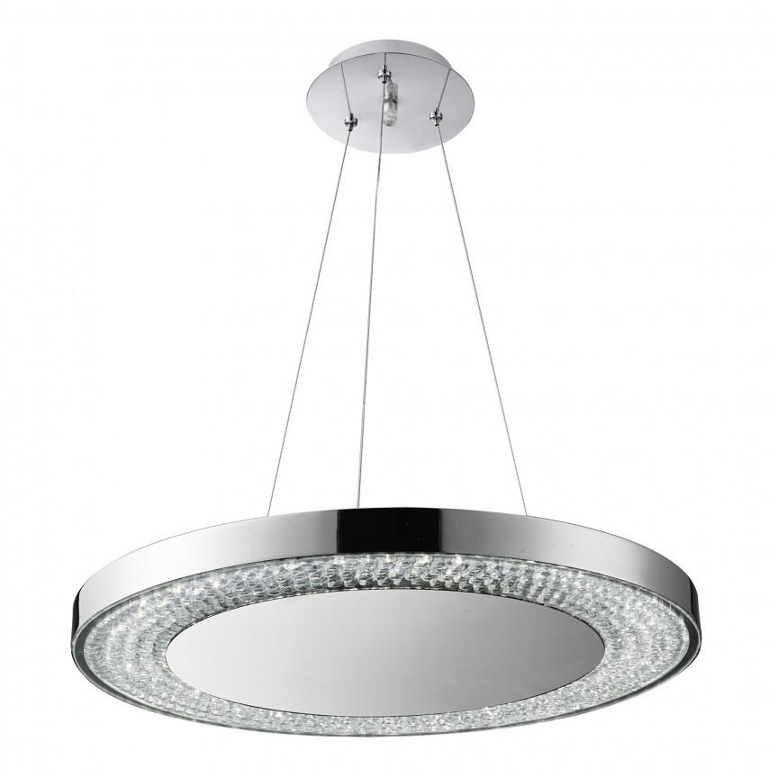Lustra LED moderna suspendata Halo 58880-80CC SRT, Corpuri de iluminat, lustre, aplice, veioze, lampadare, plafoniere. Mobilier si decoratiuni, oglinzi, scaune, fotolii. Oferte speciale iluminat interior si exterior. Livram in toata tara.