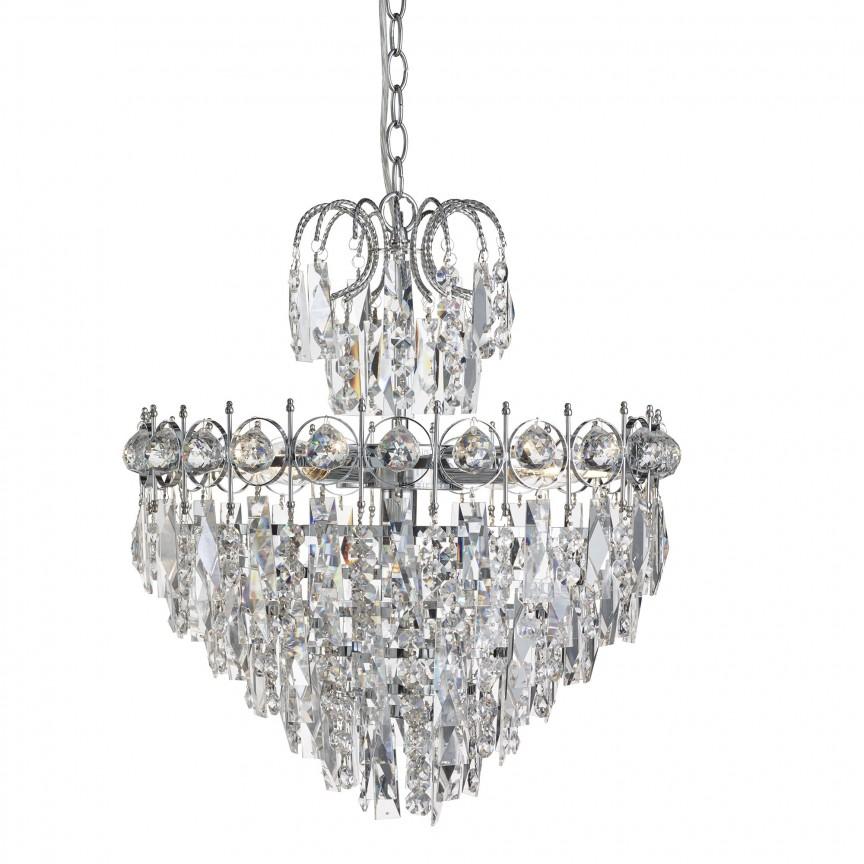 Candelabru cristal design elegant Catherine 5L 2595-5CC SRT, Candelabre, Pendule clasice, Corpuri de iluminat, lustre, aplice, veioze, lampadare, plafoniere. Mobilier si decoratiuni, oglinzi, scaune, fotolii. Oferte speciale iluminat interior si exterior. Livram in toata tara.  a