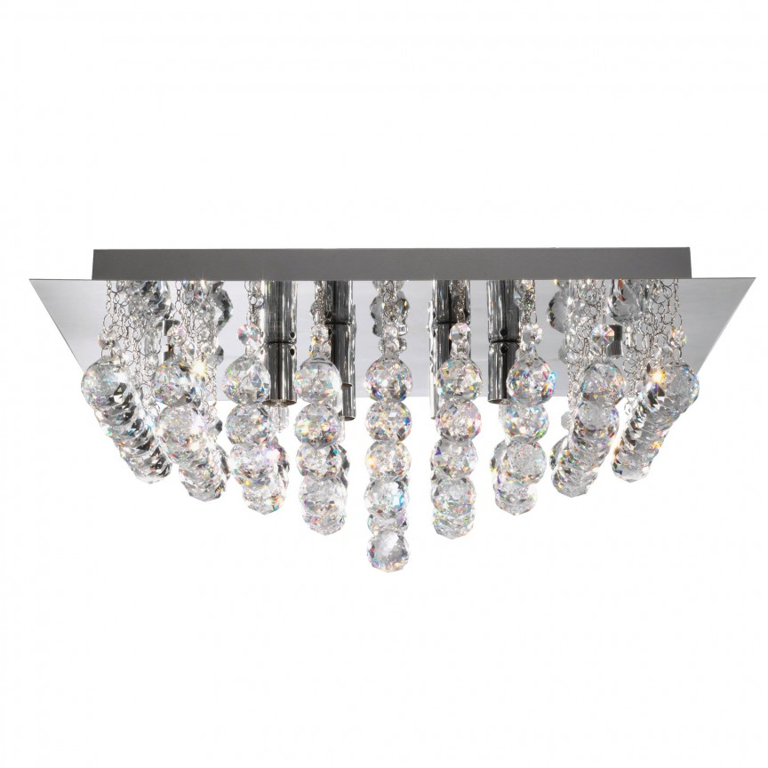 Plafoniera eleganta design modern Hanna 6L 6406-6CC SRT, Plafoniere moderne, Corpuri de iluminat, lustre, aplice, veioze, lampadare, plafoniere. Mobilier si decoratiuni, oglinzi, scaune, fotolii. Oferte speciale iluminat interior si exterior. Livram in toata tara.  a