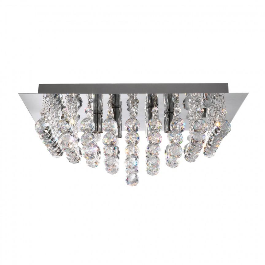 Plafoniera eleganta design modern Hanna 8L 6408-8CC SRT, Plafoniere moderne, Corpuri de iluminat, lustre, aplice, veioze, lampadare, plafoniere. Mobilier si decoratiuni, oglinzi, scaune, fotolii. Oferte speciale iluminat interior si exterior. Livram in toata tara.  a