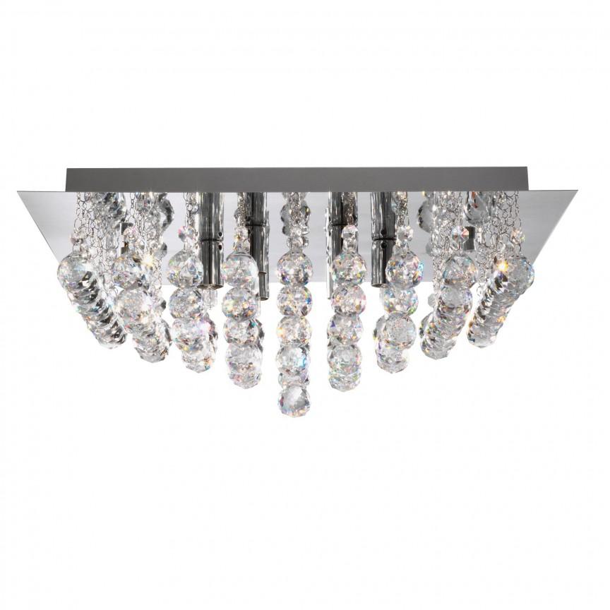 Plafoniera eleganta design modern Hanna 4L 6404-4CC SRT, Plafoniere moderne, Corpuri de iluminat, lustre, aplice, veioze, lampadare, plafoniere. Mobilier si decoratiuni, oglinzi, scaune, fotolii. Oferte speciale iluminat interior si exterior. Livram in toata tara.  a