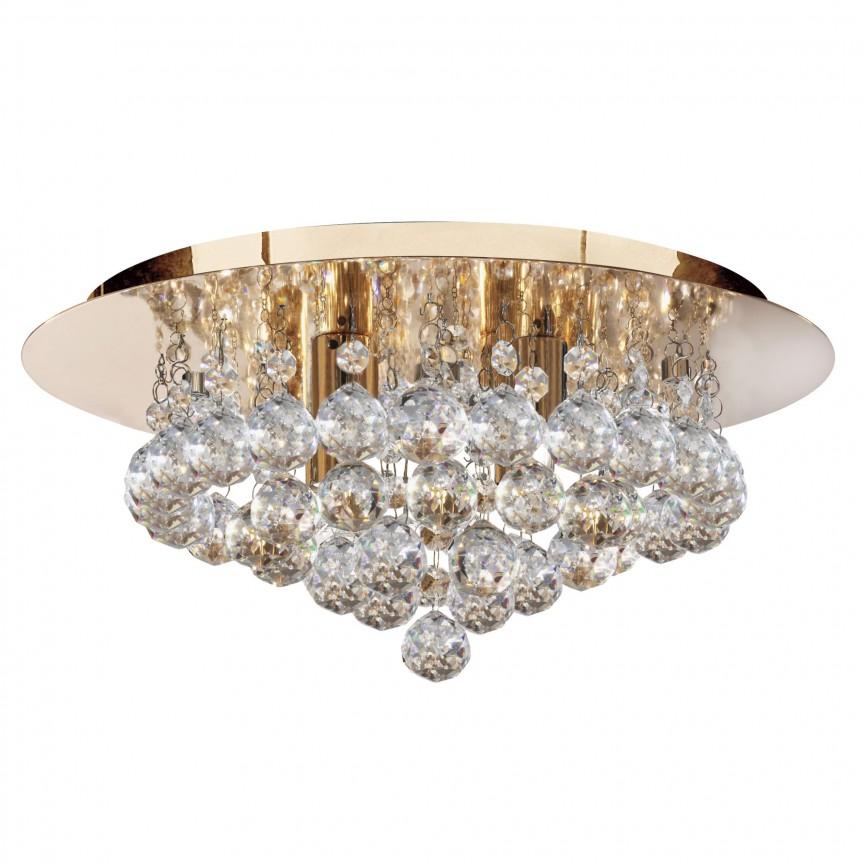 Plafoniera eleganta design modern Hanna gold 4L 3404-4GO SRT, Plafoniere moderne, Corpuri de iluminat, lustre, aplice, veioze, lampadare, plafoniere. Mobilier si decoratiuni, oglinzi, scaune, fotolii. Oferte speciale iluminat interior si exterior. Livram in toata tara.  a