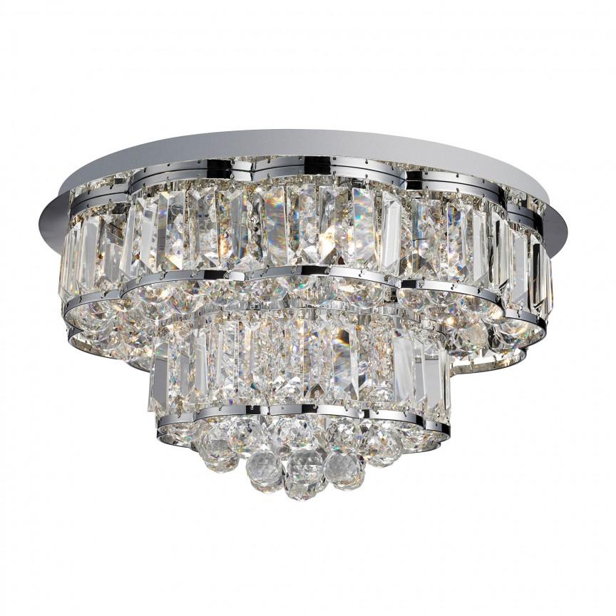 Lustra eleganta design modern Hayley 6L 8376-6CC SRT, Plafoniere moderne, Corpuri de iluminat, lustre, aplice, veioze, lampadare, plafoniere. Mobilier si decoratiuni, oglinzi, scaune, fotolii. Oferte speciale iluminat interior si exterior. Livram in toata tara.  a