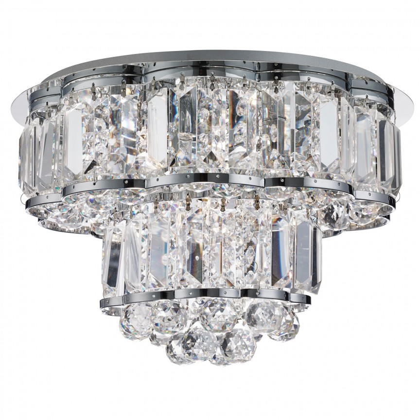 Plafoniera eleganta design modern Hayley 4L 8374-4CC SRT, Plafoniere moderne, Corpuri de iluminat, lustre, aplice, veioze, lampadare, plafoniere. Mobilier si decoratiuni, oglinzi, scaune, fotolii. Oferte speciale iluminat interior si exterior. Livram in toata tara.  a