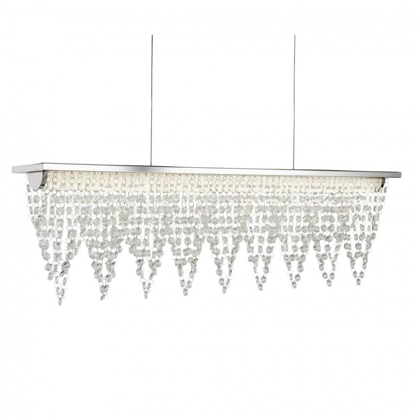 Lustra LED eleganta design modern Drape 8857CC SRT, Lustre LED, Pendule LED, Corpuri de iluminat, lustre, aplice, veioze, lampadare, plafoniere. Mobilier si decoratiuni, oglinzi, scaune, fotolii. Oferte speciale iluminat interior si exterior. Livram in toata tara.  a