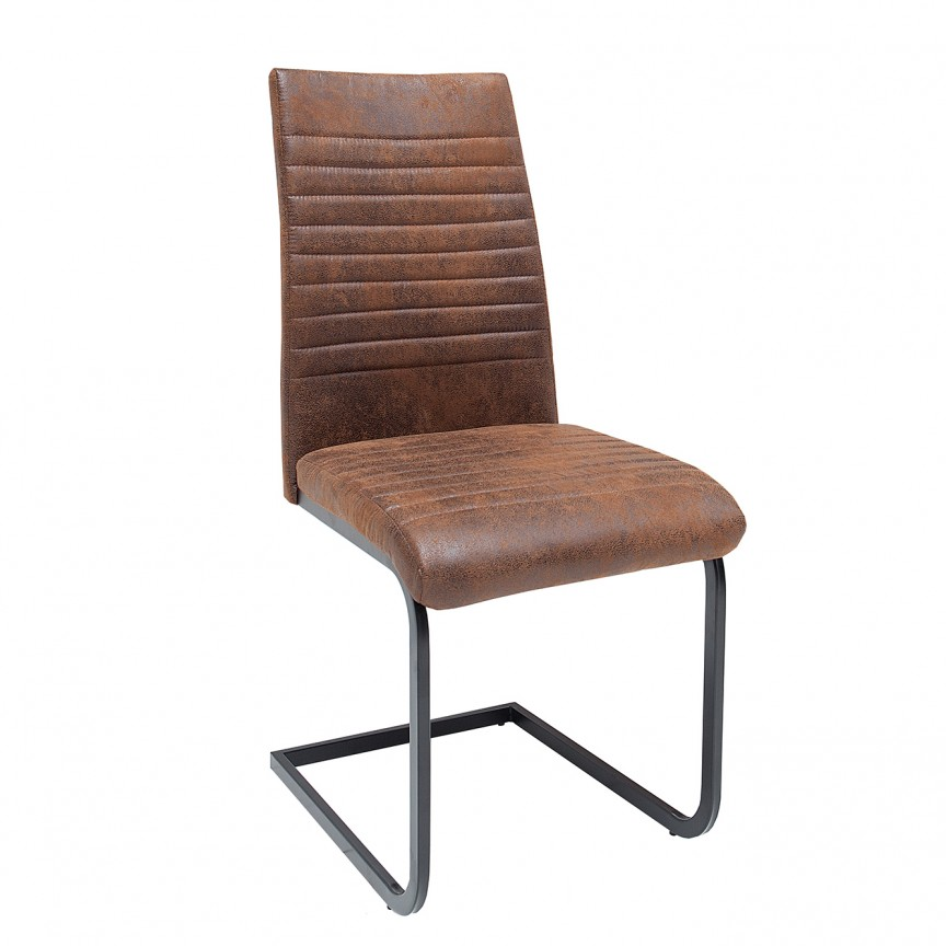 Set de 4 scaune Appartment, microfibra maro antic A-39377 VC, Seturi scaune dining, scaune HoReCa, Corpuri de iluminat, lustre, aplice, veioze, lampadare, plafoniere. Mobilier si decoratiuni, oglinzi, scaune, fotolii. Oferte speciale iluminat interior si exterior. Livram in toata tara.  a