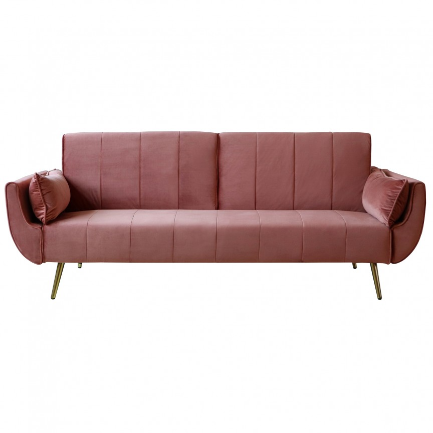 Canapea extensibila Divani 215cm, roz inchis A-39479 VC, Canapele - Coltare, Corpuri de iluminat, lustre, aplice, veioze, lampadare, plafoniere. Mobilier si decoratiuni, oglinzi, scaune, fotolii. Oferte speciale iluminat interior si exterior. Livram in toata tara.  a