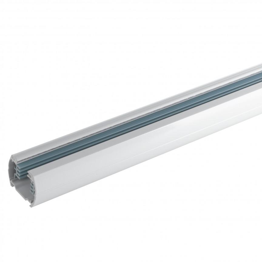 Sina trifazica alba 2 metri LED-TRACK-2M FE, Magazin, Corpuri de iluminat, lustre, aplice, veioze, lampadare, plafoniere. Mobilier si decoratiuni, oglinzi, scaune, fotolii. Oferte speciale iluminat interior si exterior. Livram in toata tara.  a