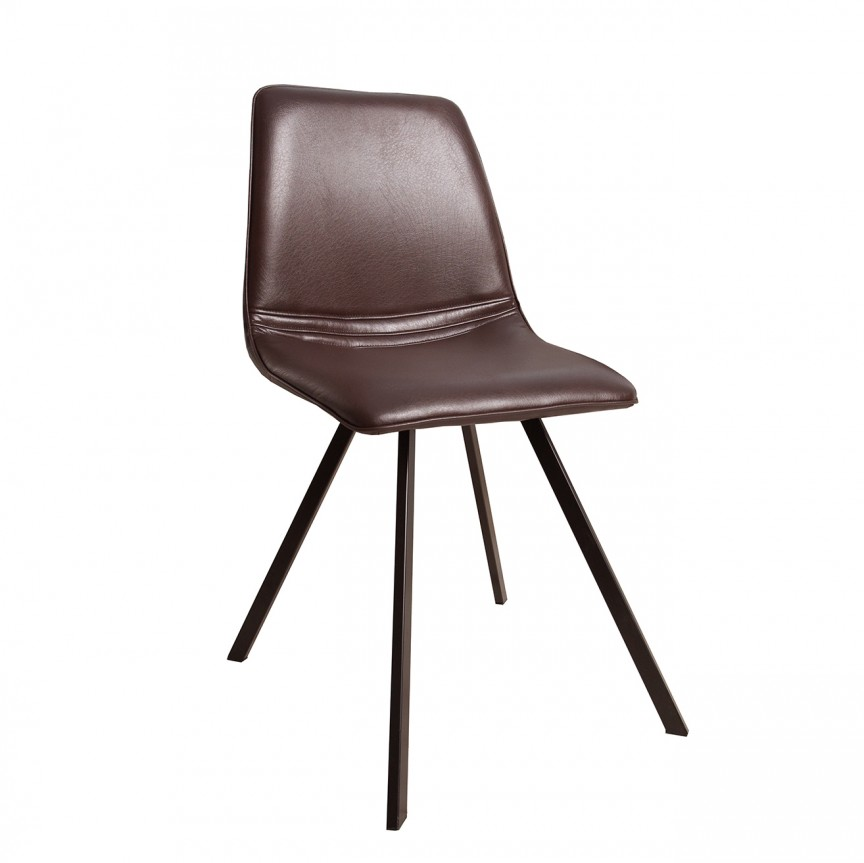 Set de 4 scaune industrial retro Amsterdam, maro A-36343 VC, Seturi scaune dining, scaune HoReCa, Corpuri de iluminat, lustre, aplice, veioze, lampadare, plafoniere. Mobilier si decoratiuni, oglinzi, scaune, fotolii. Oferte speciale iluminat interior si exterior. Livram in toata tara.  a