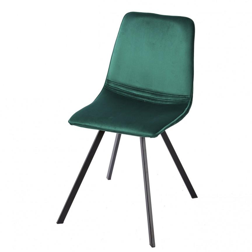 Set de 4 scaune industrial retro Amsterdam, catifea verde smarald A-39918 VC, Seturi scaune dining, scaune HoReCa, Corpuri de iluminat, lustre, aplice, veioze, lampadare, plafoniere. Mobilier si decoratiuni, oglinzi, scaune, fotolii. Oferte speciale iluminat interior si exterior. Livram in toata tara.  a