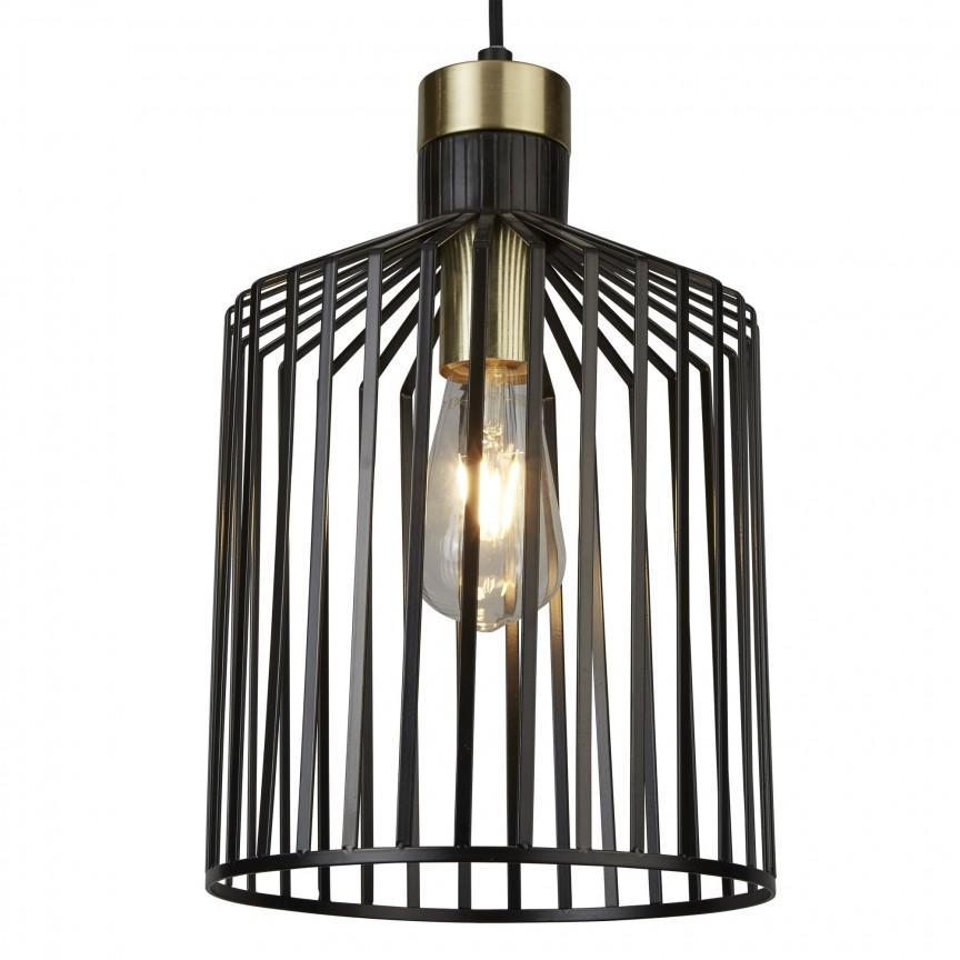 Lustra / Pendul design modern Bird Cage 9413BK SRT, Magazin, Corpuri de iluminat, lustre, aplice, veioze, lampadare, plafoniere. Mobilier si decoratiuni, oglinzi, scaune, fotolii. Oferte speciale iluminat interior si exterior. Livram in toata tara.  a