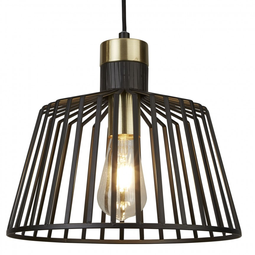 Lustra / Pendul design modern Bird Cage 9411BK SRT, Magazin, Corpuri de iluminat, lustre, aplice, veioze, lampadare, plafoniere. Mobilier si decoratiuni, oglinzi, scaune, fotolii. Oferte speciale iluminat interior si exterior. Livram in toata tara.  a