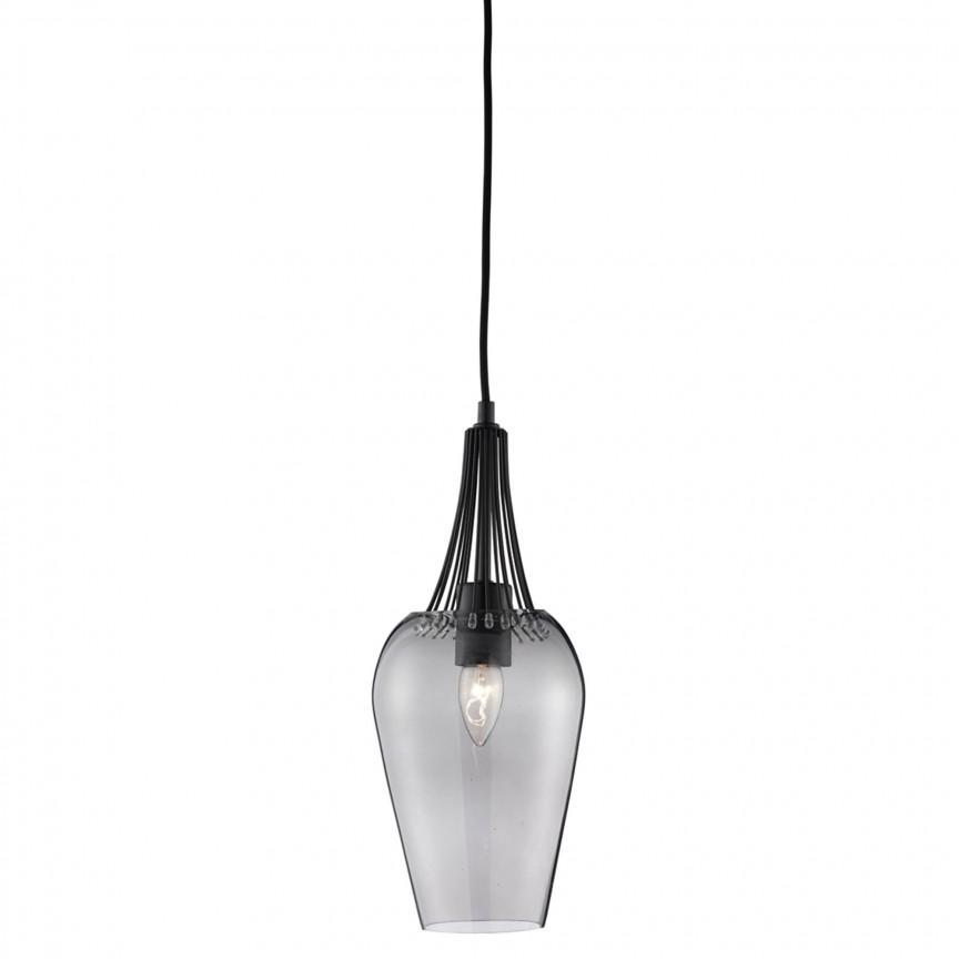 Pendul design modern Whisk Black 8911BK SRT, Magazin, Corpuri de iluminat, lustre, aplice, veioze, lampadare, plafoniere. Mobilier si decoratiuni, oglinzi, scaune, fotolii. Oferte speciale iluminat interior si exterior. Livram in toata tara.  a