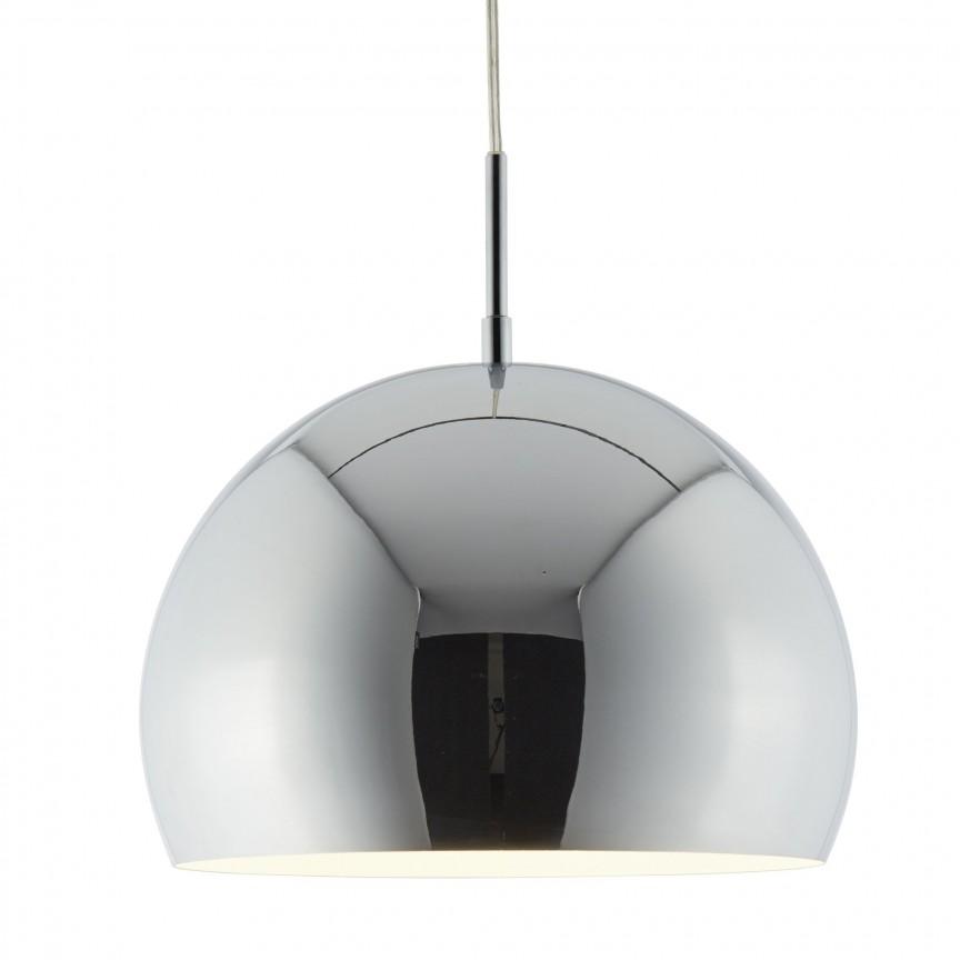 Lustra / Pendul design modern Ø30cm Domas crom 3038CC SRT, Magazin, Corpuri de iluminat, lustre, aplice, veioze, lampadare, plafoniere. Mobilier si decoratiuni, oglinzi, scaune, fotolii. Oferte speciale iluminat interior si exterior. Livram in toata tara.  a