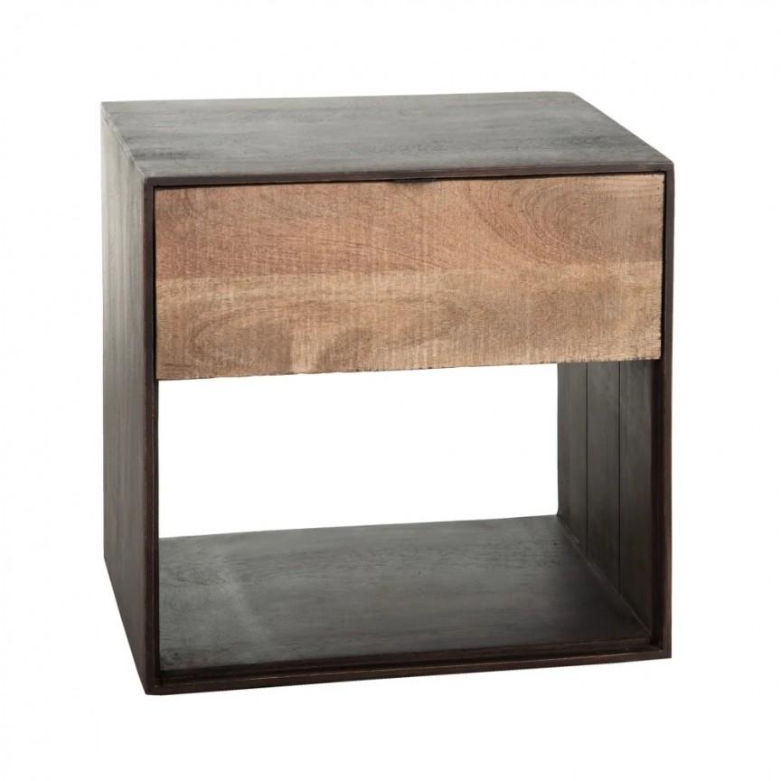 Noptiera/ Masuta laterala din lemn WAY SX-121983, Paturi - Noptiere dormitor,  a