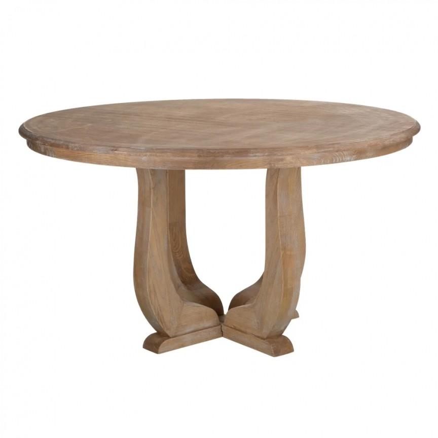 Masa rotunda din lemn design clasic Harold, 135cm DZ-121755, Mese dining, Corpuri de iluminat, lustre, aplice, veioze, lampadare, plafoniere. Mobilier si decoratiuni, oglinzi, scaune, fotolii. Oferte speciale iluminat interior si exterior. Livram in toata tara.  a