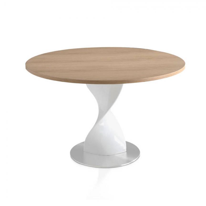 Masa cu baza din fibra de sticla Ollie, furnir stejar 110cm B065-ROBLE, Mese dining, Corpuri de iluminat, lustre, aplice, veioze, lampadare, plafoniere. Mobilier si decoratiuni, oglinzi, scaune, fotolii. Oferte speciale iluminat interior si exterior. Livram in toata tara.  a