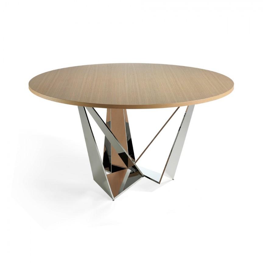 Masa eleganta design modern Ruby, 150cm CT2061R-ROBLE, Mese dining, Corpuri de iluminat, lustre, aplice, veioze, lampadare, plafoniere. Mobilier si decoratiuni, oglinzi, scaune, fotolii. Oferte speciale iluminat interior si exterior. Livram in toata tara.  a