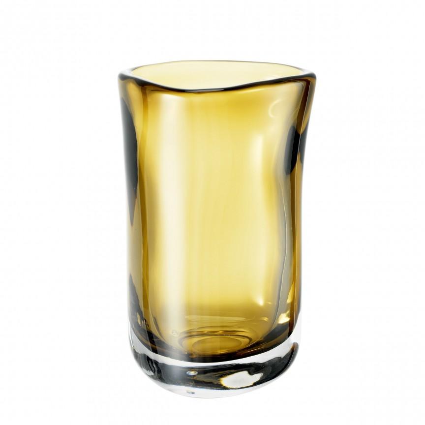 Vas din sticla galbena, design LUX Corum M 113664 HZ, Parfumuri de camera- Idei cadouri- Obiecte decorative,  a
