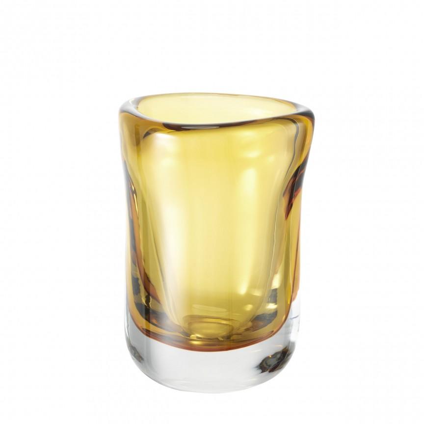 Vas din sticla galbena, design LUX Corum S 113665 HZ, Parfumuri de camera- Idei cadouri- Obiecte decorative,  a