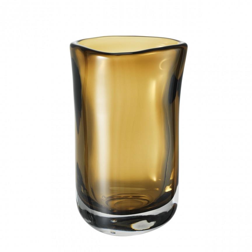 Vas din sticla maro, design LUX Corum M 113667 HZ, Parfumuri de camera- Idei cadouri- Obiecte decorative,  a