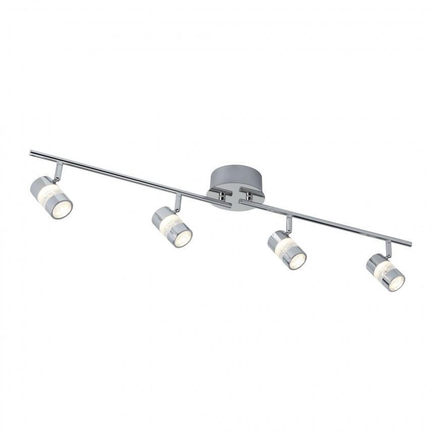 Plafoniera LED directionabila pentru baie IP44 Bubbles 4L 4414CC SRT, Spoturi - iluminat - cu 4 spoturi, Corpuri de iluminat, lustre, aplice, veioze, lampadare, plafoniere. Mobilier si decoratiuni, oglinzi, scaune, fotolii. Oferte speciale iluminat interior si exterior. Livram in toata tara.  a
