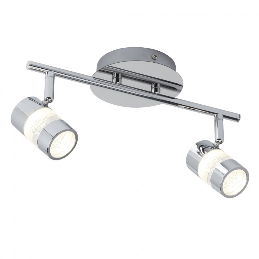 Plafoniera LED directionabila pentru baie IP44 Bubbles 2L 4412CC SRT, Spoturi - iluminat - cu 2 spoturi, Corpuri de iluminat, lustre, aplice, veioze, lampadare, plafoniere. Mobilier si decoratiuni, oglinzi, scaune, fotolii. Oferte speciale iluminat interior si exterior. Livram in toata tara.  a