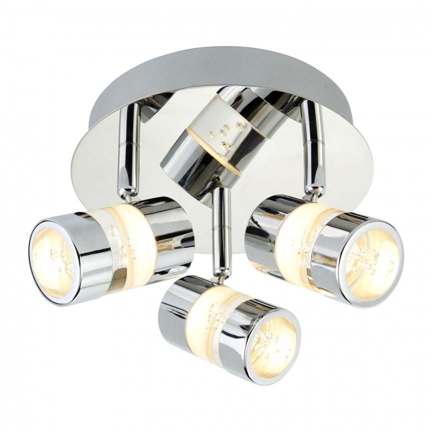 Plafoniera LED directionabila pentru baie IP44 Bubbles 3L 4413CC SRT, Spoturi - iluminat - cu 3 spoturi, Corpuri de iluminat, lustre, aplice, veioze, lampadare, plafoniere. Mobilier si decoratiuni, oglinzi, scaune, fotolii. Oferte speciale iluminat interior si exterior. Livram in toata tara.  a