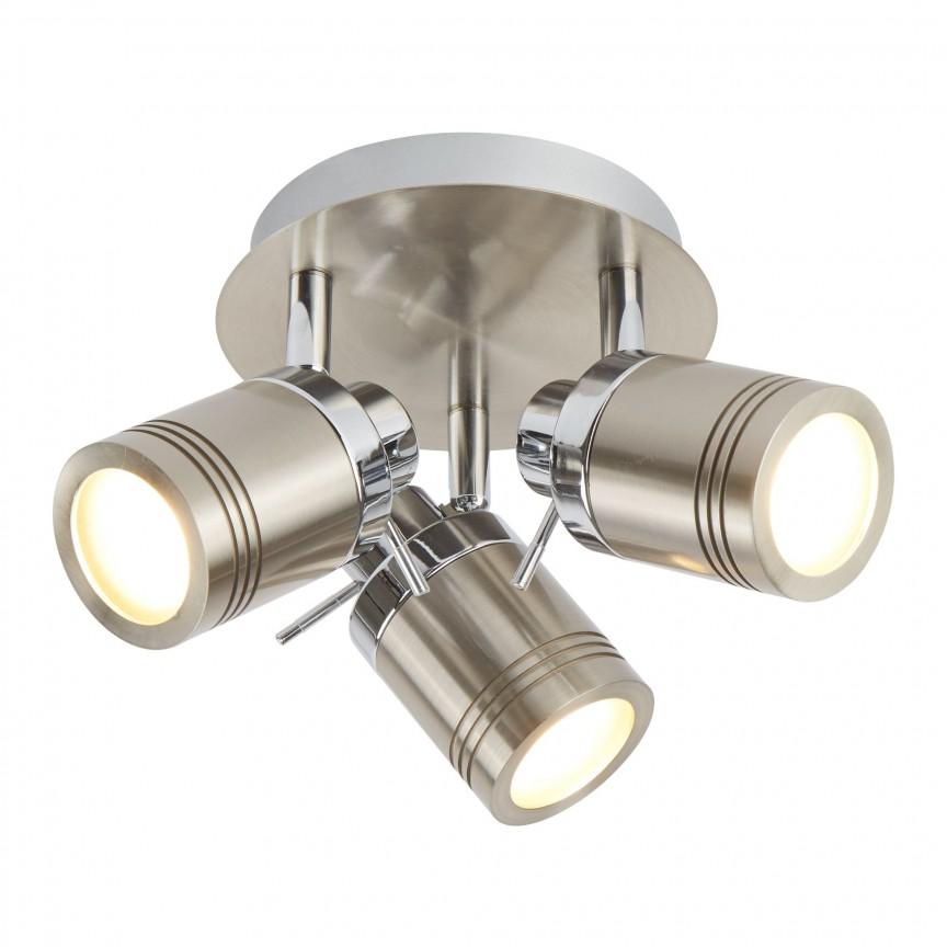 Plafoniera directionabila pentru baie IP44 Samson 3L 6603SS SRT, Spoturi - iluminat - cu 3 spoturi, Corpuri de iluminat, lustre, aplice, veioze, lampadare, plafoniere. Mobilier si decoratiuni, oglinzi, scaune, fotolii. Oferte speciale iluminat interior si exterior. Livram in toata tara.  a