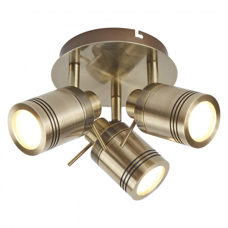 Plafoniera directionabila pentru baie IP44 Samson 3L 6603AB SRT, Spoturi - iluminat - cu 3 spoturi, Corpuri de iluminat, lustre, aplice, veioze, lampadare, plafoniere. Mobilier si decoratiuni, oglinzi, scaune, fotolii. Oferte speciale iluminat interior si exterior. Livram in toata tara.  a
