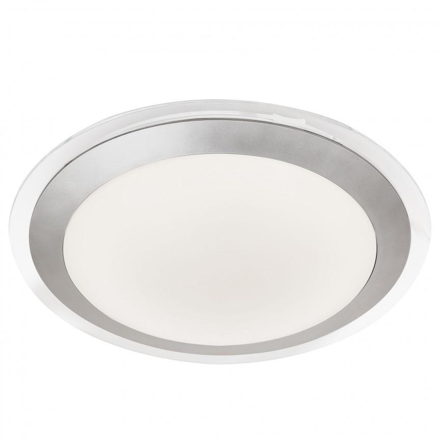 Aplica LED de perete / tavan pentru baie IP44 Bathroom 33cm 7684-33SI SRT, Plafoniere cu protectie pentru baie, Corpuri de iluminat, lustre, aplice, veioze, lampadare, plafoniere. Mobilier si decoratiuni, oglinzi, scaune, fotolii. Oferte speciale iluminat interior si exterior. Livram in toata tara.  a