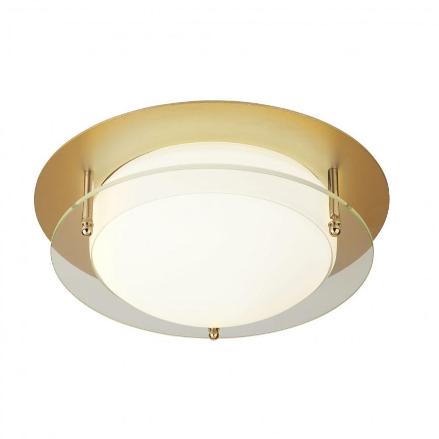 Aplica LED de perete / tavan pentru baie IP44 Bathroom 38cm 6830-38GO SRT, Plafoniere cu protectie pentru baie, Corpuri de iluminat, lustre, aplice, veioze, lampadare, plafoniere. Mobilier si decoratiuni, oglinzi, scaune, fotolii. Oferte speciale iluminat interior si exterior. Livram in toata tara.  a