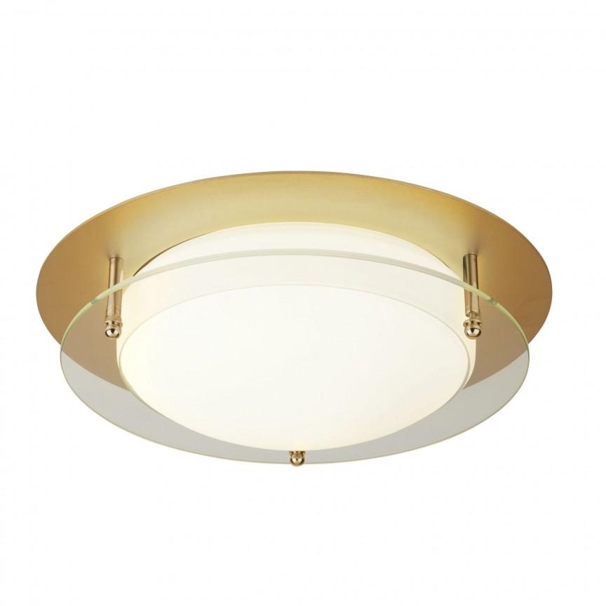 Aplica LED de perete / tavan pentru baie IP44 Bathroom 30cm 6830-30GO SRT, Plafoniere cu protectie pentru baie, Corpuri de iluminat, lustre, aplice, veioze, lampadare, plafoniere. Mobilier si decoratiuni, oglinzi, scaune, fotolii. Oferte speciale iluminat interior si exterior. Livram in toata tara.  a