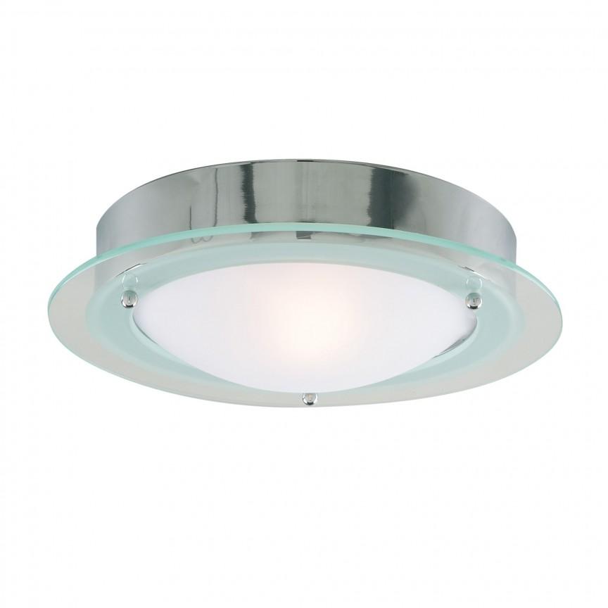 Aplica de perete / tavan pentru baie IP44 Discs 20cm 3108CC SRT, Plafoniere cu protectie pentru baie, Corpuri de iluminat, lustre, aplice, veioze, lampadare, plafoniere. Mobilier si decoratiuni, oglinzi, scaune, fotolii. Oferte speciale iluminat interior si exterior. Livram in toata tara.  a