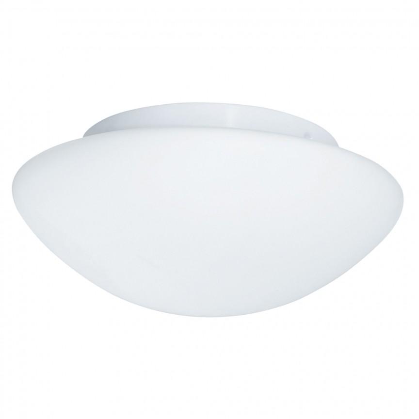 Aplica de perete / tavan pentru baie IP44 Discs 28cm 1910-28 SRT, Plafoniere cu protectie pentru baie, Corpuri de iluminat, lustre, aplice, veioze, lampadare, plafoniere. Mobilier si decoratiuni, oglinzi, scaune, fotolii. Oferte speciale iluminat interior si exterior. Livram in toata tara.  a
