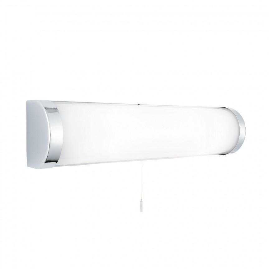 Aplica de perete pentru baie design liniar IP44 Poplar 8293CC SRT, Aplice pentru baie, oglinda, tablou, Corpuri de iluminat, lustre, aplice, veioze, lampadare, plafoniere. Mobilier si decoratiuni, oglinzi, scaune, fotolii. Oferte speciale iluminat interior si exterior. Livram in toata tara.  a