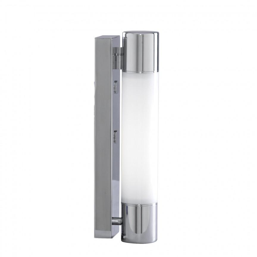 Aplica de perete LED pentru baie IP44 Poplar 2208CC-LED SRT, Aplice pentru baie, oglinda, tablou, Corpuri de iluminat, lustre, aplice, veioze, lampadare, plafoniere. Mobilier si decoratiuni, oglinzi, scaune, fotolii. Oferte speciale iluminat interior si exterior. Livram in toata tara.  a