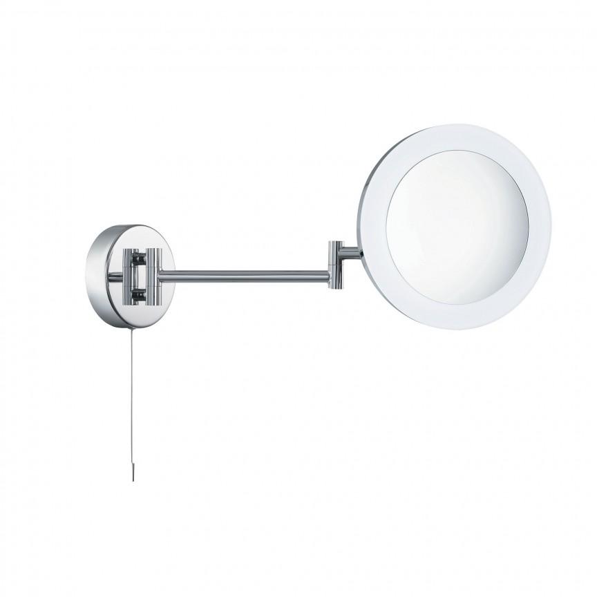 Oglinda cu iluminat LED pentru baie IP44 directionabila Bathroom 1456CC SRT, Oglinzi de baie cu iluminare LED, ⭐ modele moderne decorative potrivite pentru baia ta.✅ Design premium actual Top 2020!❤️Promotii❗ ➽ www.evalight.ro. Alege oferta la oglinda cu LED baie cu lumina incorporata de tip dulap rotunda, patrata si dreptunghiulara, ieftine si de calitate deosebita la cel mai bun pret. a