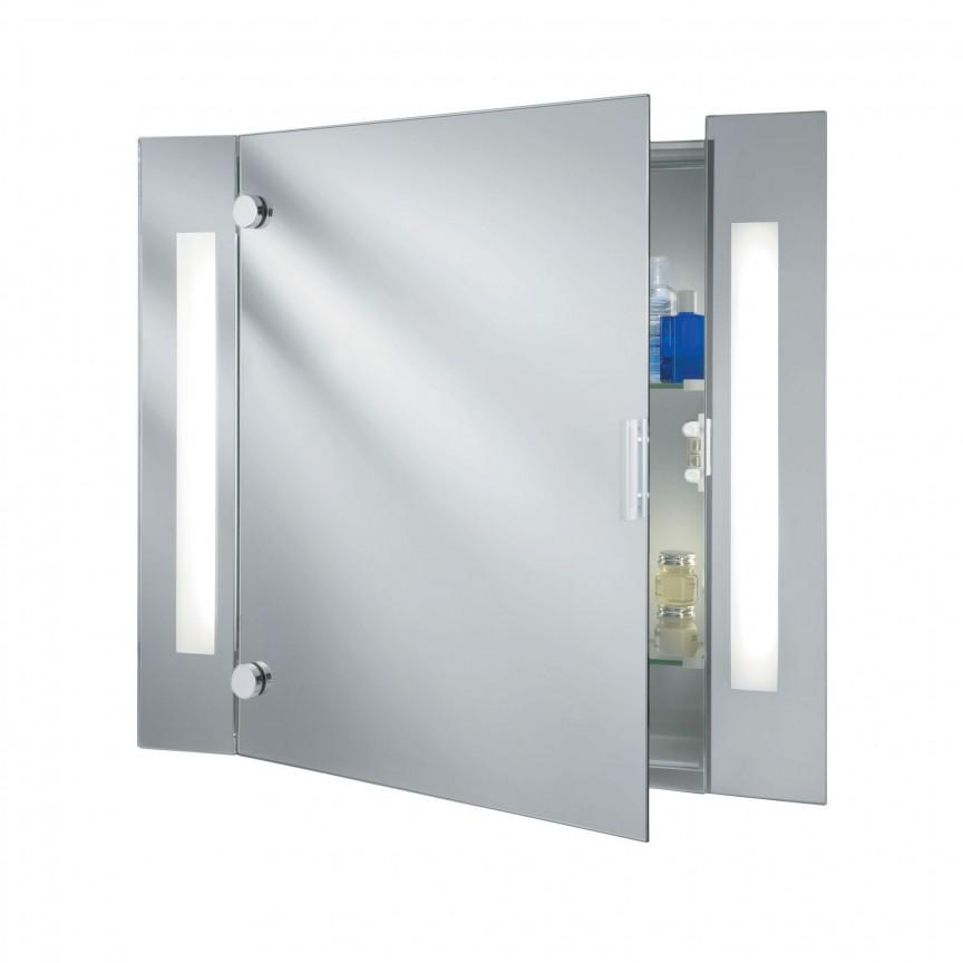 Dulapior cu oglinda cu iluminat LED pentru baie IP44 Bathroom 6560 SRT, Oglinzi de baie cu iluminare LED, ⭐ modele moderne decorative potrivite pentru baia ta.✅ Design premium actual Top 2020!❤️Promotii❗ ➽ www.evalight.ro. Alege oferta la oglinda cu LED baie cu lumina incorporata de tip dulap rotunda, patrata si dreptunghiulara, ieftine si de calitate deosebita la cel mai bun pret. a