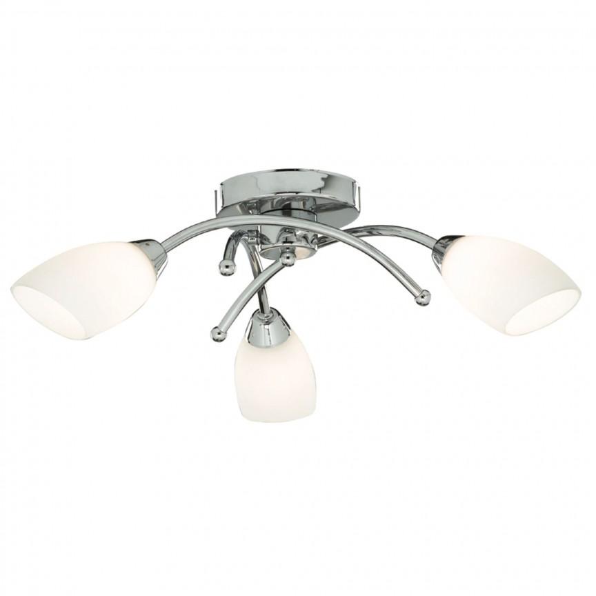 Lustra aplicata pentru baie IP44 Bathroom 4483-3CC-LED SRT, Plafoniere cu protectie pentru baie, Corpuri de iluminat, lustre, aplice, veioze, lampadare, plafoniere. Mobilier si decoratiuni, oglinzi, scaune, fotolii. Oferte speciale iluminat interior si exterior. Livram in toata tara.  a