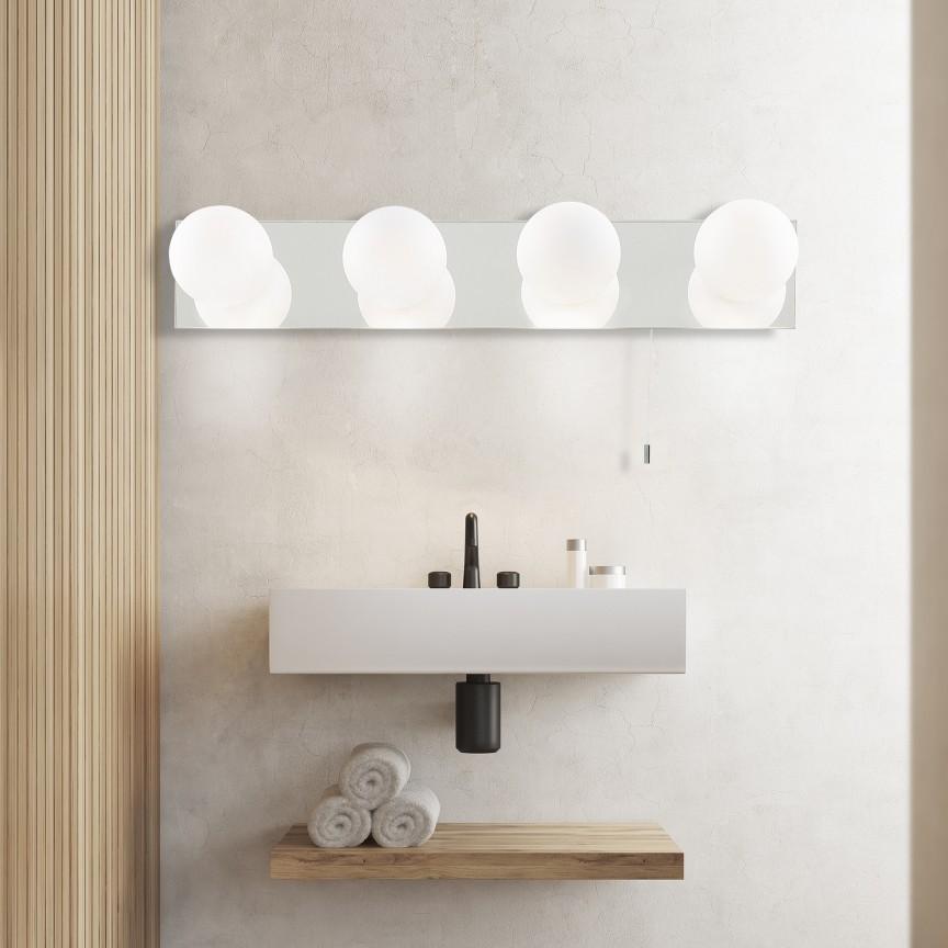 Aplica de perete pentru baie IP44 Global 6337-4-LED SRT, Aplice pentru baie, oglinda, tablou, Corpuri de iluminat, lustre, aplice, veioze, lampadare, plafoniere. Mobilier si decoratiuni, oglinzi, scaune, fotolii. Oferte speciale iluminat interior si exterior. Livram in toata tara.  a