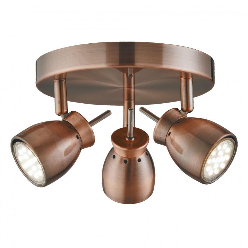 Plafoniera moderna cu 3 spoturi directionabile Jupiter 8813CU SRT, Spoturi - iluminat - cu 3 spoturi, Corpuri de iluminat, lustre, aplice, veioze, lampadare, plafoniere. Mobilier si decoratiuni, oglinzi, scaune, fotolii. Oferte speciale iluminat interior si exterior. Livram in toata tara.  a