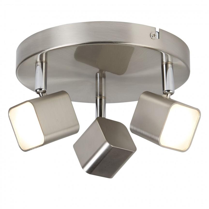Plafoniera LED moderna cu 3 spoturi directionabile Quad 4233SS SRT, Spoturi - iluminat - cu 3 spoturi, Corpuri de iluminat, lustre, aplice, veioze, lampadare, plafoniere. Mobilier si decoratiuni, oglinzi, scaune, fotolii. Oferte speciale iluminat interior si exterior. Livram in toata tara.  a