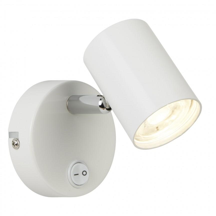Aplica LED cu spot directionabil Rollo alba 3171WH SRT, Spoturi - iluminat - cu 1 spot, Corpuri de iluminat, lustre, aplice, veioze, lampadare, plafoniere. Mobilier si decoratiuni, oglinzi, scaune, fotolii. Oferte speciale iluminat interior si exterior. Livram in toata tara.  a