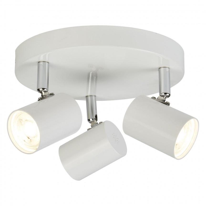 Plafoniera LED cu 3 spoturi directionabile Rollo alba 3173WH SRT, Spoturi - iluminat - cu 3 spoturi, Corpuri de iluminat, lustre, aplice, veioze, lampadare, plafoniere. Mobilier si decoratiuni, oglinzi, scaune, fotolii. Oferte speciale iluminat interior si exterior. Livram in toata tara.  a