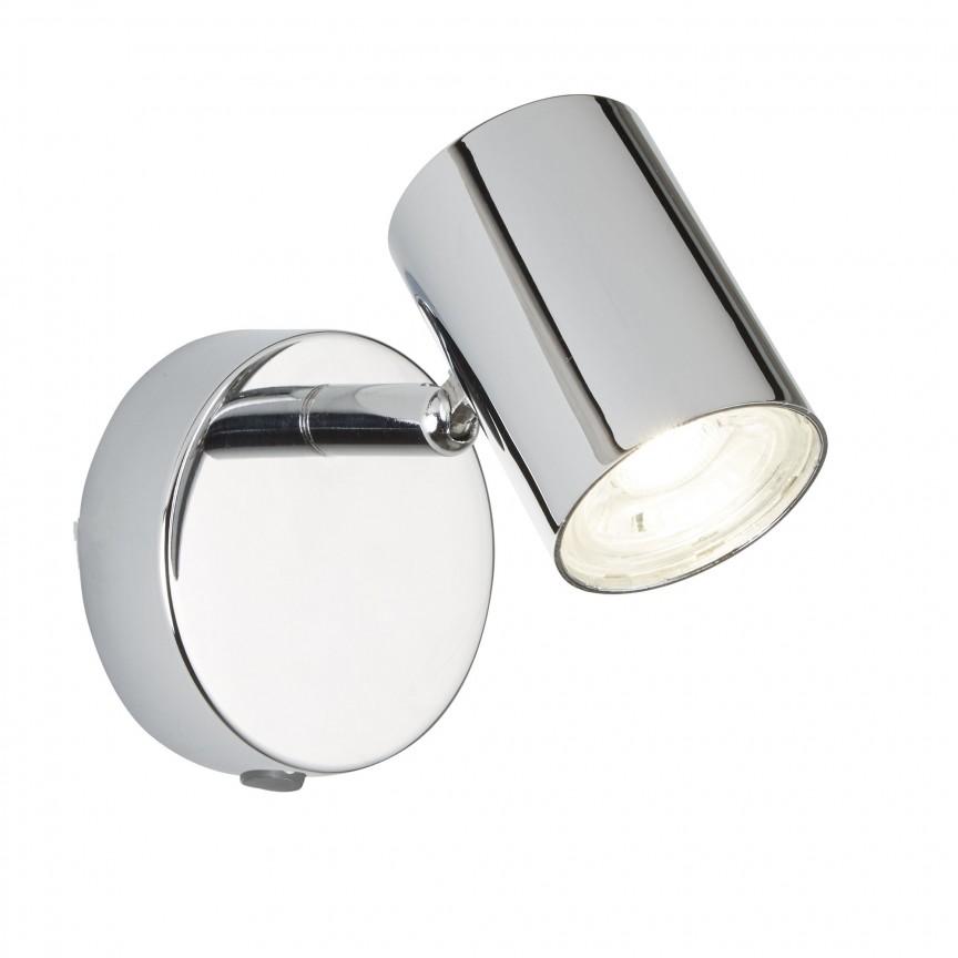 Aplica LED cu spot directionabil Rollo crom 3171CC SRT, Spoturi - iluminat - cu 1 spot, Corpuri de iluminat, lustre, aplice, veioze, lampadare, plafoniere. Mobilier si decoratiuni, oglinzi, scaune, fotolii. Oferte speciale iluminat interior si exterior. Livram in toata tara.  a