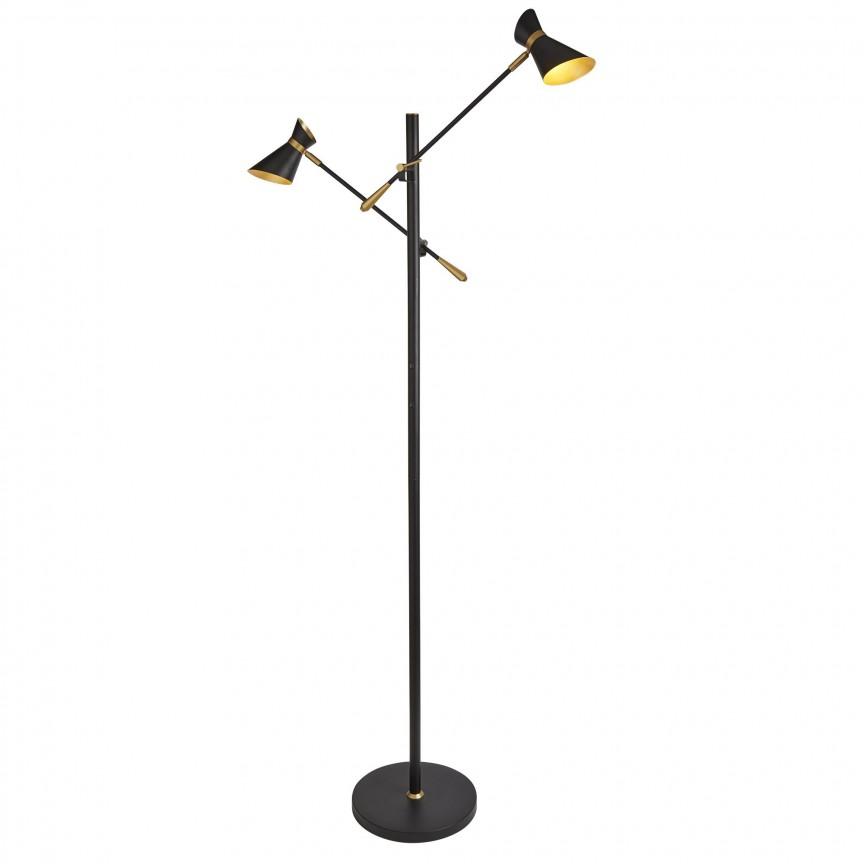 Lampadar LED modern directionabil Diablo EU5962-2BG SRT, Veioze LED, Lampadare LED, Corpuri de iluminat, lustre, aplice, veioze, lampadare, plafoniere. Mobilier si decoratiuni, oglinzi, scaune, fotolii. Oferte speciale iluminat interior si exterior. Livram in toata tara.  a