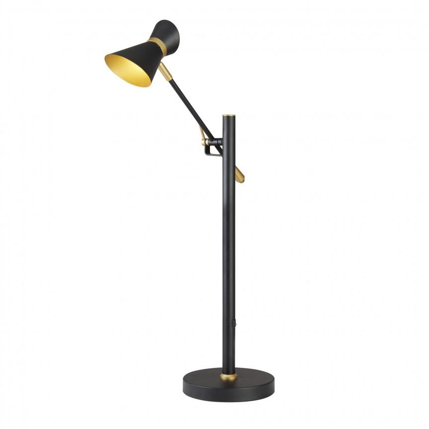 Veioza LED moderna directionabila Diablo EU5961BG SRT, Veioze LED, Lampadare LED, Corpuri de iluminat, lustre, aplice, veioze, lampadare, plafoniere. Mobilier si decoratiuni, oglinzi, scaune, fotolii. Oferte speciale iluminat interior si exterior. Livram in toata tara.  a