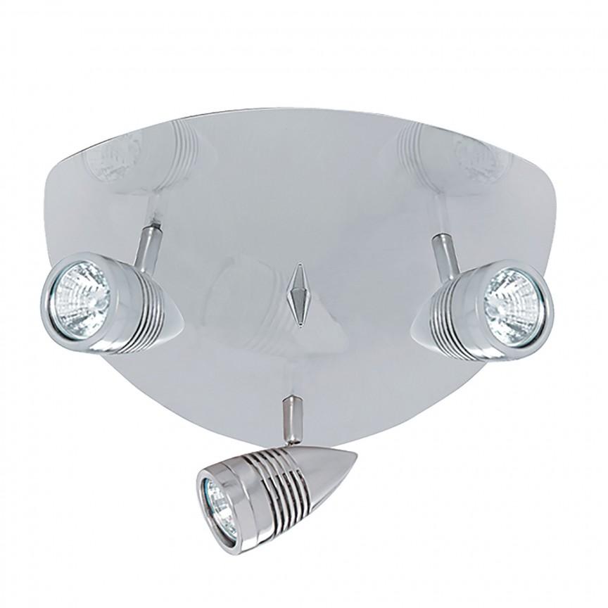 Plafoniera moderna cu 3 spoturi directionabile Falcon 693SS SRT, Spoturi - iluminat - cu 3 spoturi, Corpuri de iluminat, lustre, aplice, veioze, lampadare, plafoniere. Mobilier si decoratiuni, oglinzi, scaune, fotolii. Oferte speciale iluminat interior si exterior. Livram in toata tara.  a